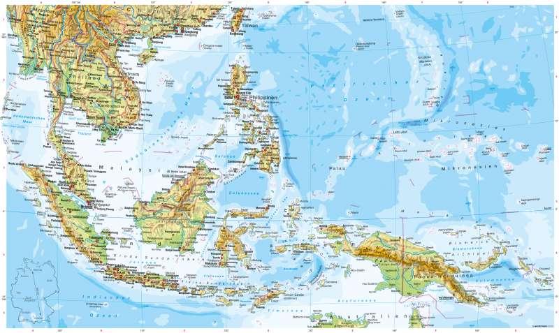 Südostasien | Physische Karte | Physische Karte | Karte 134/1