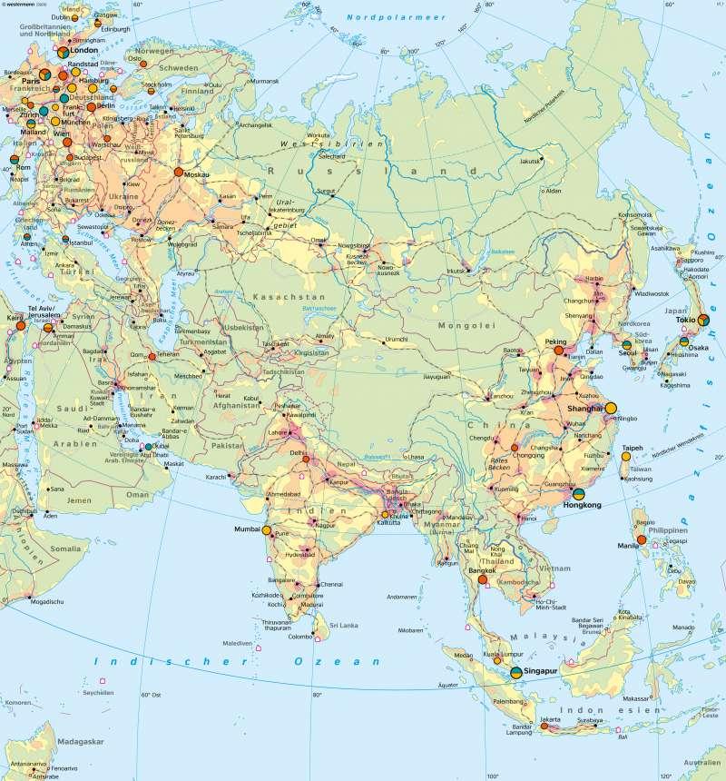 Asien   Wirtschaft   Asien - Wirtschaft   Karte 158/1
