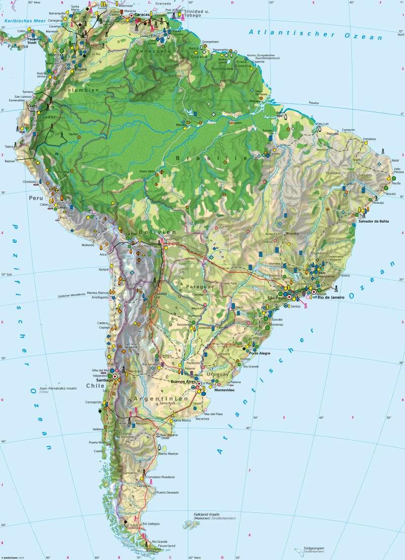 Südamerika | Wirtschaft | Wirtschaft | Karte 230/1