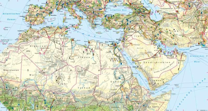 Naher Osten, Nördliches Afrika (Orient) | Wirtschaft | Wirtschaft | Karte 178/1