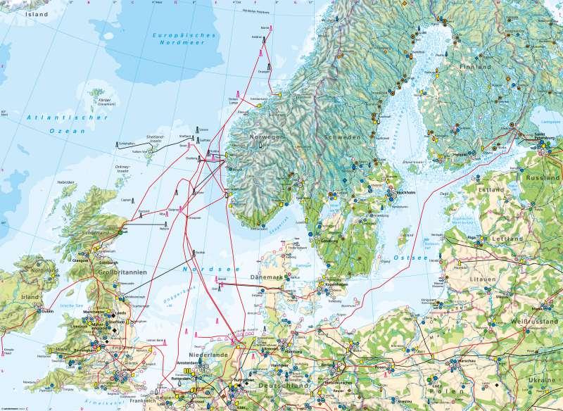 Dänemark Nordsee Karte.Diercke Weltatlas Kartenansicht Nordsee Und Ostseeraum
