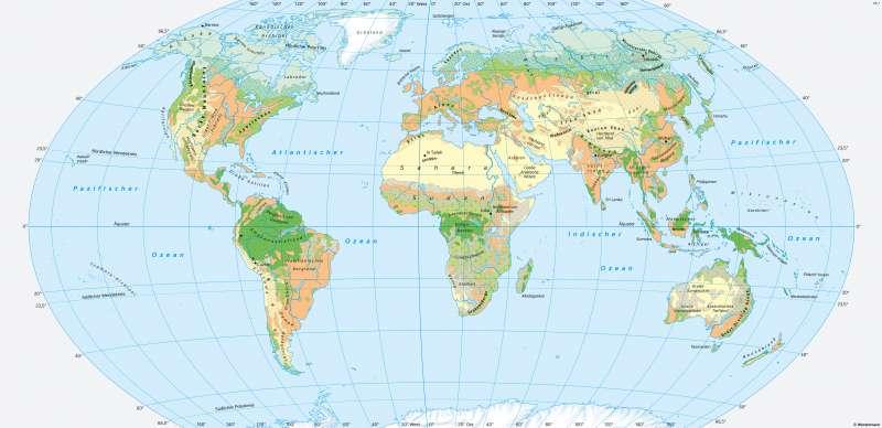 Erde   Landschaften (Ökozonen)   Landschaften (Ökozonen)   Karte 20/1