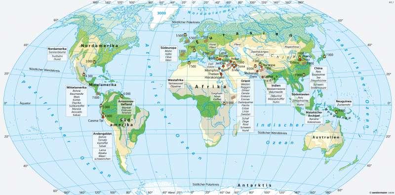 Neolithische Revolution und frühe Hochkulturen |  | Erde | Karte 24/2