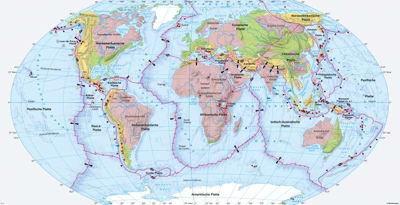 Diercke Weltatlas - Kartenansicht - Erde - Plattentektonik ...