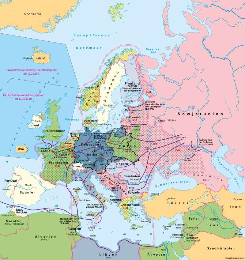 2 Weltkrieg Karte.Diercke Weltatlas Kartenansicht Europa Deutschland Im