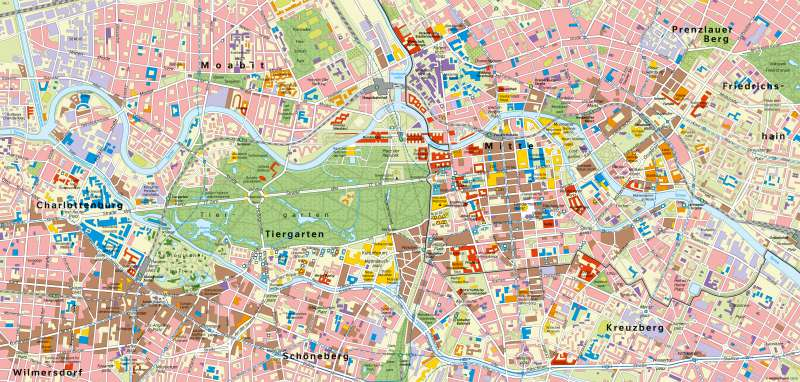 Berlin   City (westliche und östliche Innenstadt)   Deutschland - Hauptstadt Berlin   Karte 72/2