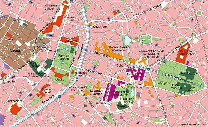 Brüssel   Hauptsitz der EU   Europa   Karte 108/3