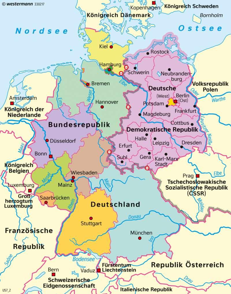 deutsche mauer karte Diercke Weltatlas   Kartenansicht   Deutschland   Deutsche Teilung