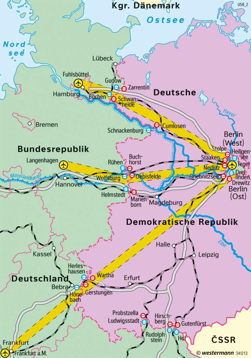 Kalter Krieg Karte.Diercke Weltatlas Kartenansicht Deutschland Transitverkehr