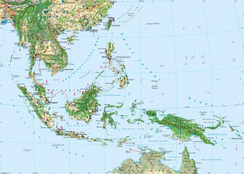 Südostasien | Wirtschaft | Wirtschaft und Landschaftswandel | Karte 172/1