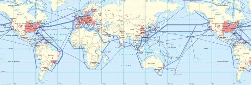 Erde | Wirtschaftszentren und globale Kommunikation | Erde - Globalisierung | Karte 44/1