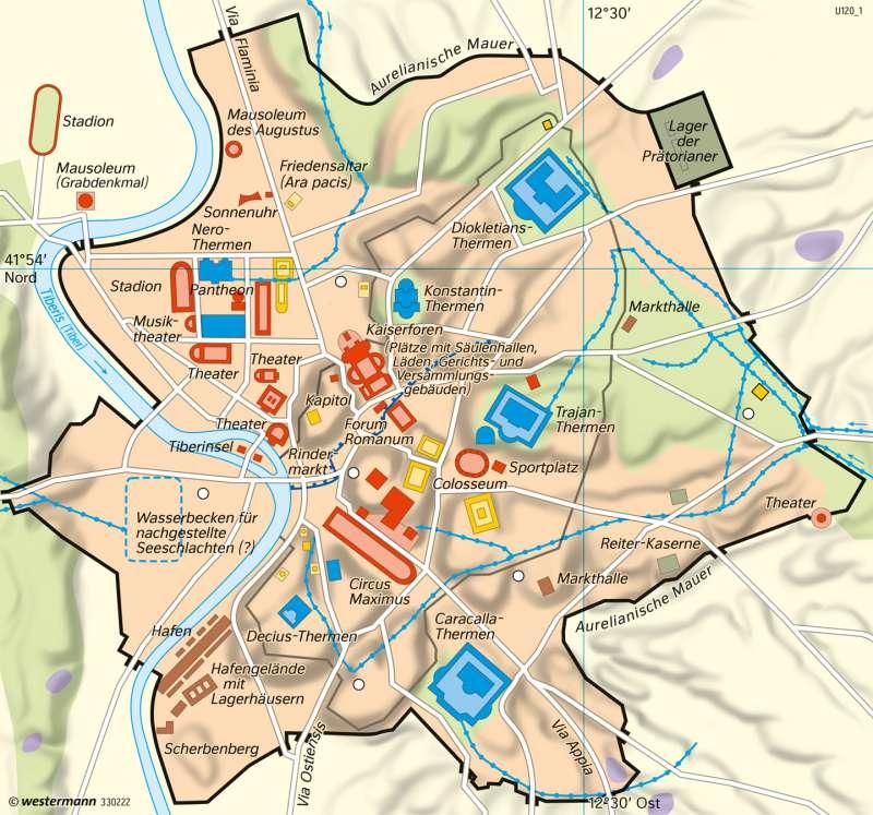 Rom   Antike Metropole   Italien - Kulturlandschaften in Antike und Gegenwart   Karte 141/4