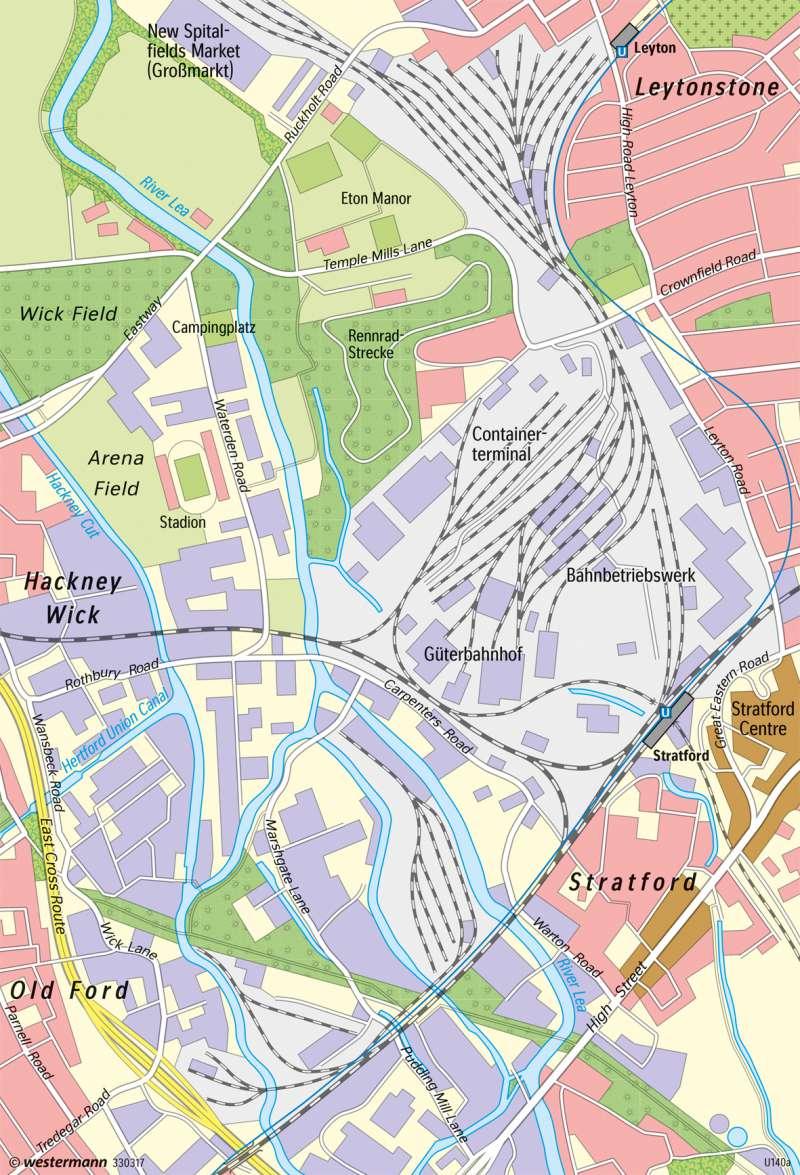 Stratford (East London)   Stadtentwicklung durch Olympia   London - Stadtentwicklung   Karte 131/3