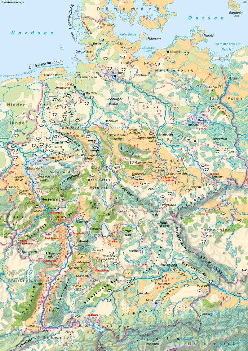 Diercke Weltatlas Kartenansicht Deutschland Landwirtschaft