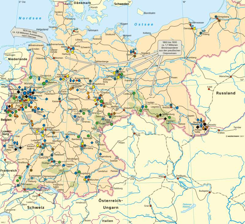 Diercke Weltatlas Kartenansicht Deutschland Industrie Und