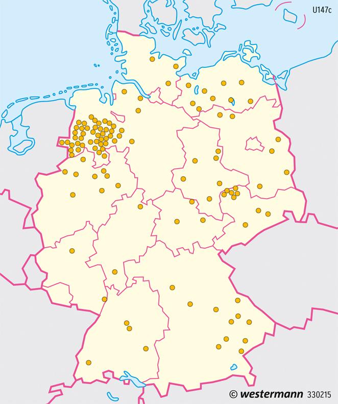 Deutschland | Viehhaltung | Deutschland - Landwirtschaft | Karte 81/2