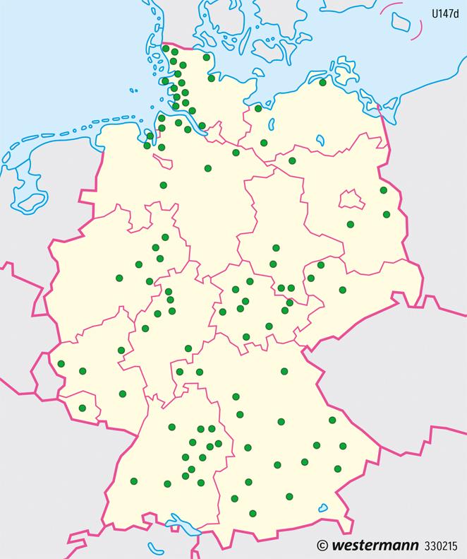 Deutschland   Viehhaltung   Deutschland - Landwirtschaft   Karte 81/2