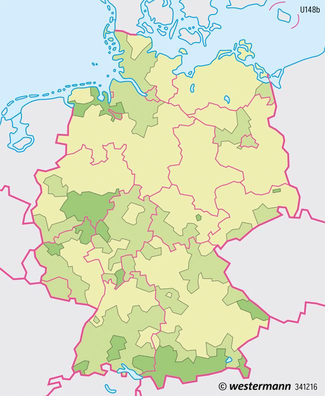 Diercke Weltatlas Kartenansicht Deutschland Flachennutzung