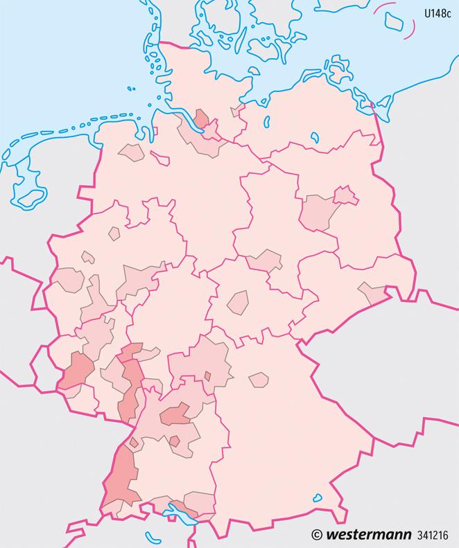 Deutschland | Flächennutzung durch Land- und Forstwirtschaft | Deutschland - Landwirtschaft | Karte 81/4