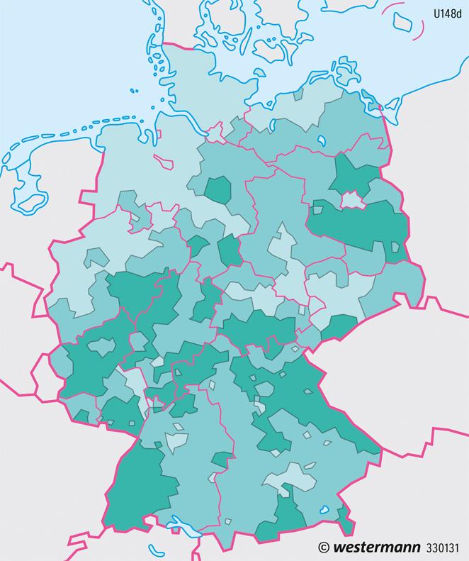 waldgebiete in deutschland karte Diercke Weltatlas   Kartenansicht   Deutschland   Flächennutzung