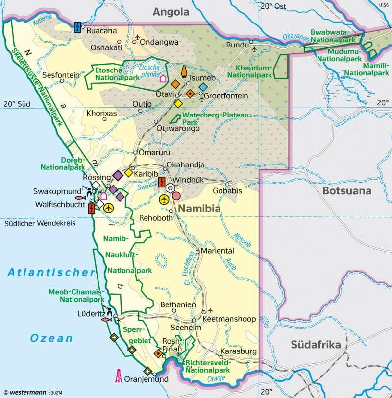Namibia   Wirtschaft heute   Afrika - Staaten und Geschichte   Karte 185/6