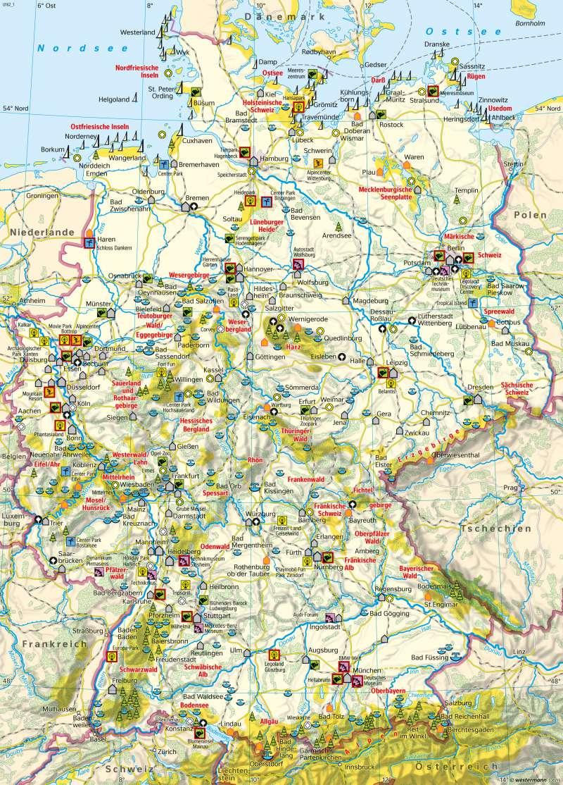 Diercke Weltatlas Kartenansicht Deutschland Tourismus Und
