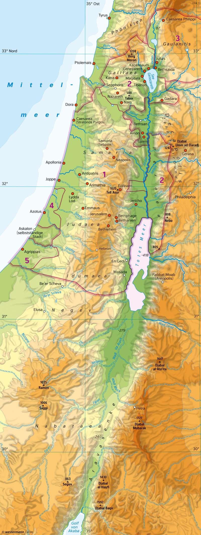 Palästina zur Zeit Jesu |  | Siedlung und Landnutzung | Karte 176/1