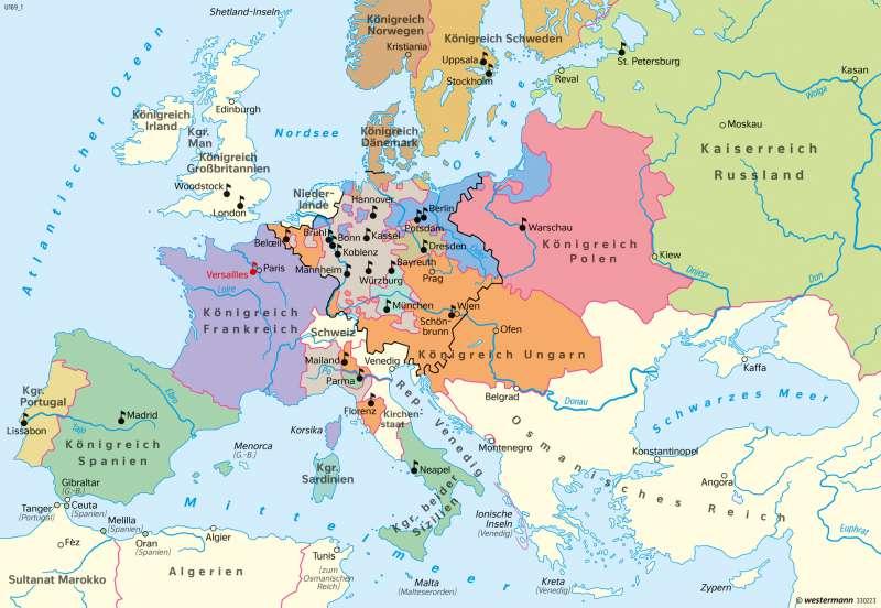 Europa | Absolutismus um 1740 | Europa - Neuzeit | Karte 104/2