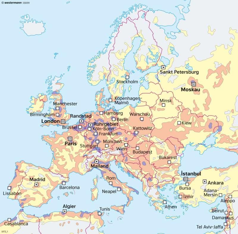 Europakarte Nordeuropa Karte.Diercke Weltatlas Kartenansicht Europa Bevölkerungsdichte Und