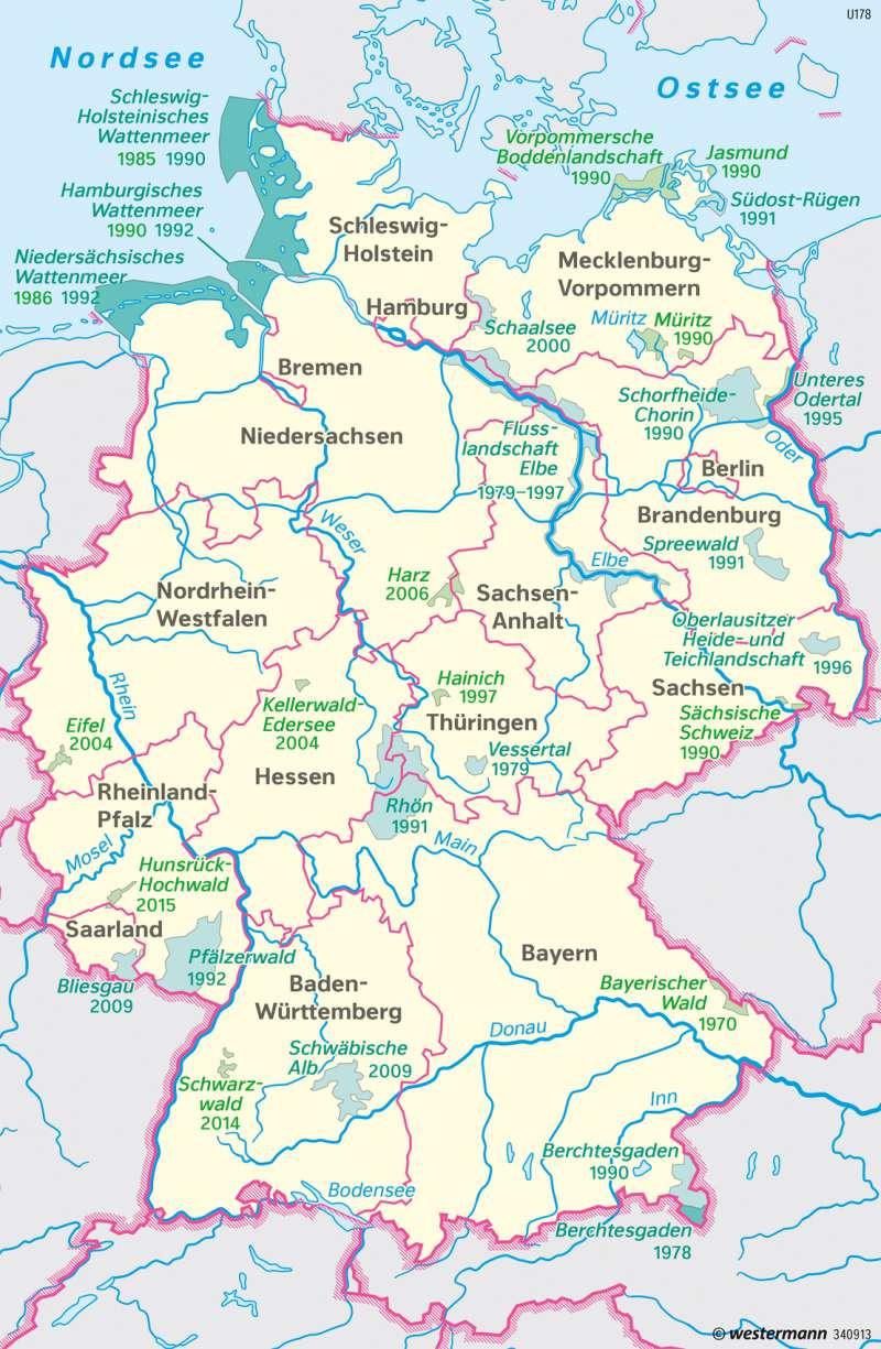 Hunsrück Hochwald Karte.Diercke Weltatlas Kartenansicht Deutschland Nationalparks Und