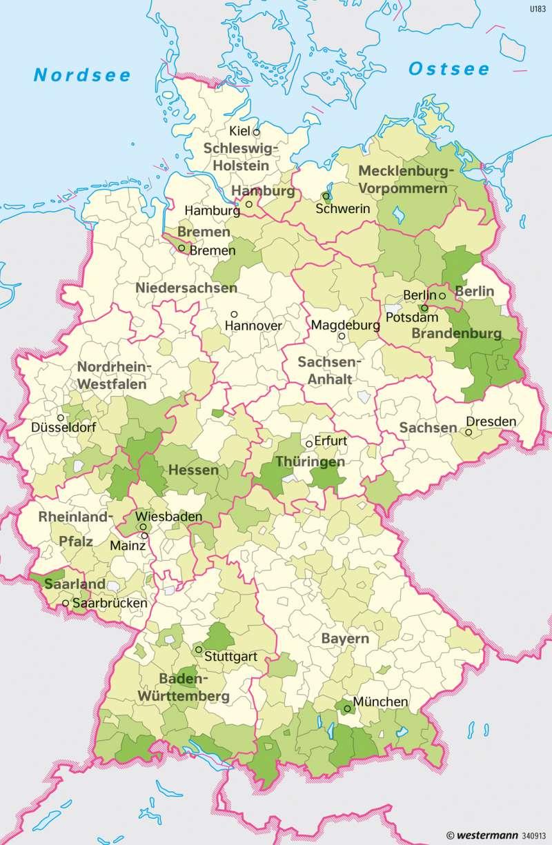 Diercke Weltatlas Kartenansicht Deutschland Okologische