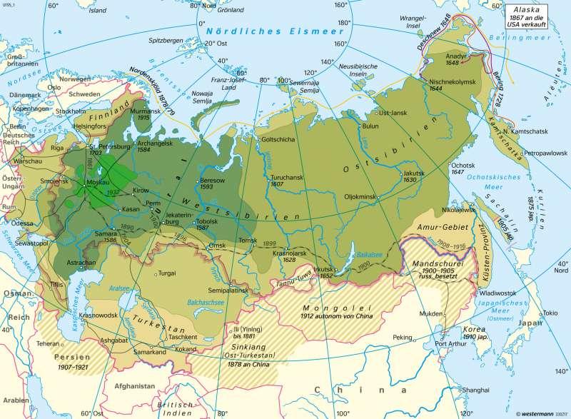 Diercke Weltatlas Kartenansicht Russland Aufstieg Zur
