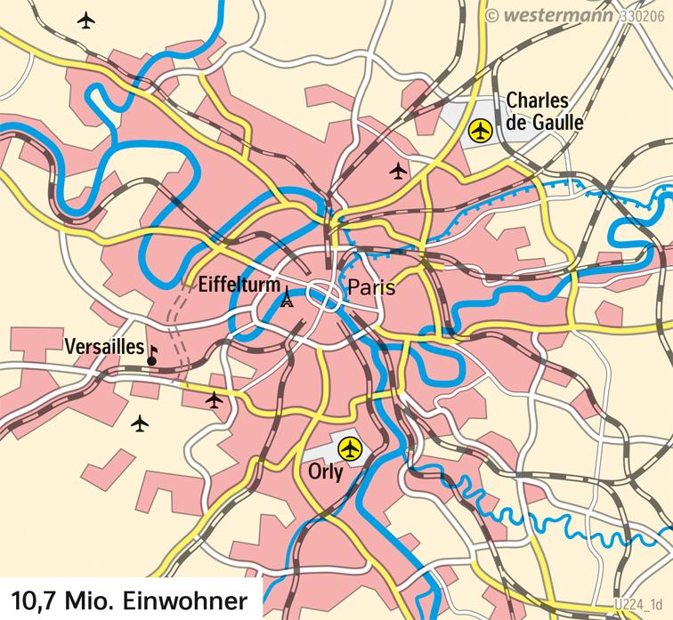 Paris | Stadtentwicklung von 1700 bis heute | Paris - Zeitenwende | Karte 129/1