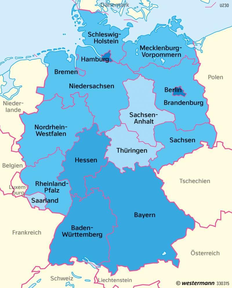 Deutschland   Natürlicher Bevölkerungssaldo   Deutschland   Karte 76/3