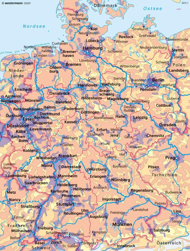 verdichtungsräume in deutschland karte Diercke Weltatlas   Kartenansicht   Deutschland