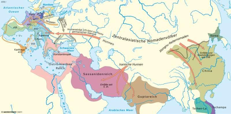 völkerwanderung karte Diercke Weltatlas   Kartenansicht   Antike   Völkerwanderung und