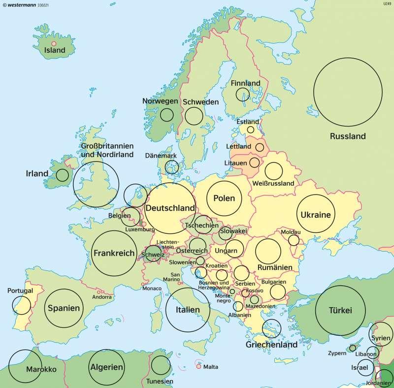 Europa | Bevölkerungsentwicklung | Europa | Karte 112/3