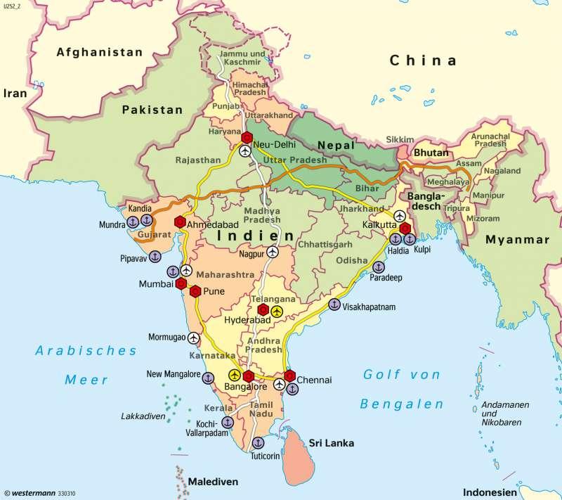 Südasien Karte.Diercke Weltatlas Kartenansicht Südasien Raumentwicklung 978