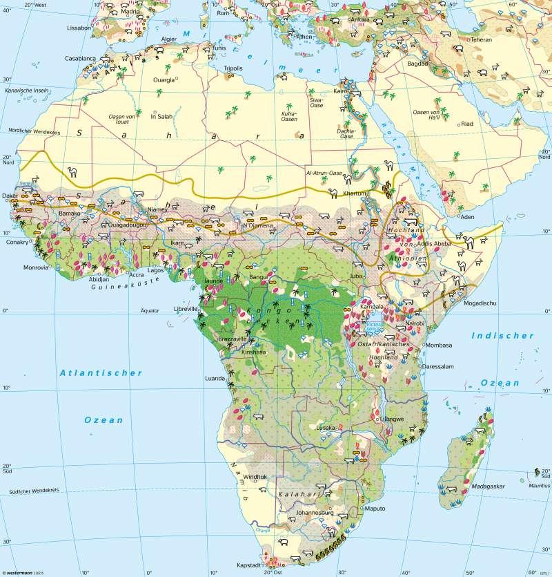 Afrika | Landwirtschaft | Afrika - Landnutzung | Karte 191/3