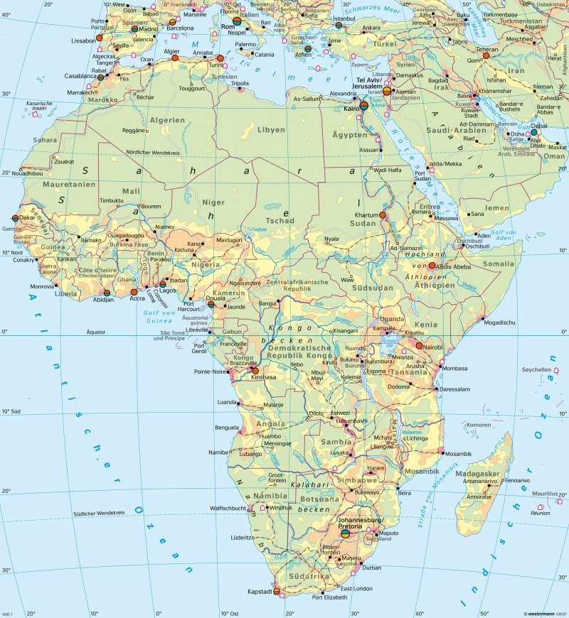 Afrika | Wirtschaft (Übersicht) | Afrika - Wirtschaft | Karte 193/4