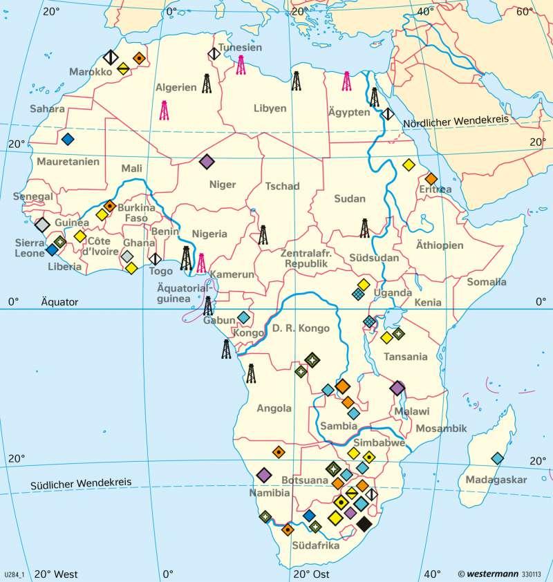 Afrika | Bergbau | Afrika - Wirtschaft | Karte 192/2