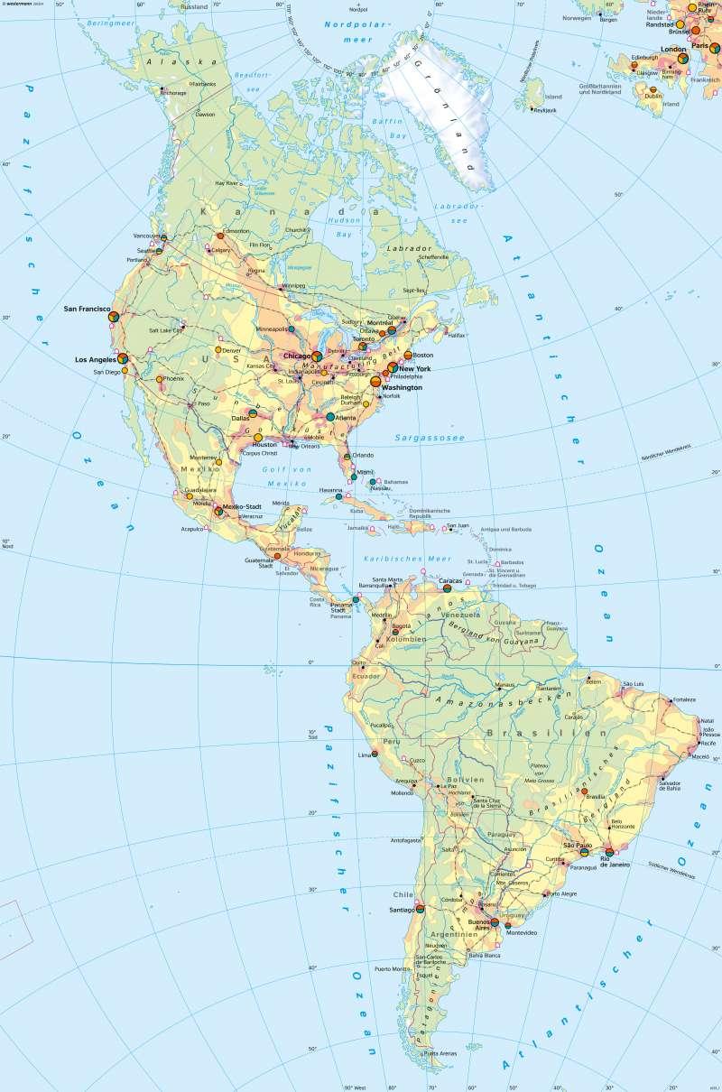 Amerika   Wirtschaft   Amerika   Karte 214/1