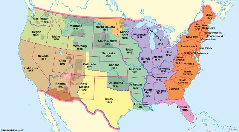 Diercke Weltatlas - Kartenansicht - USA - Politische ...