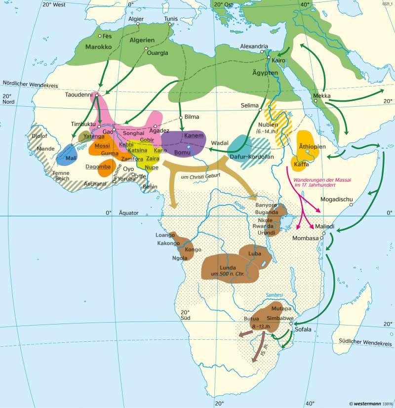 Diercke Weltatlas Kartenansicht Afrika Staaten Im 15 17