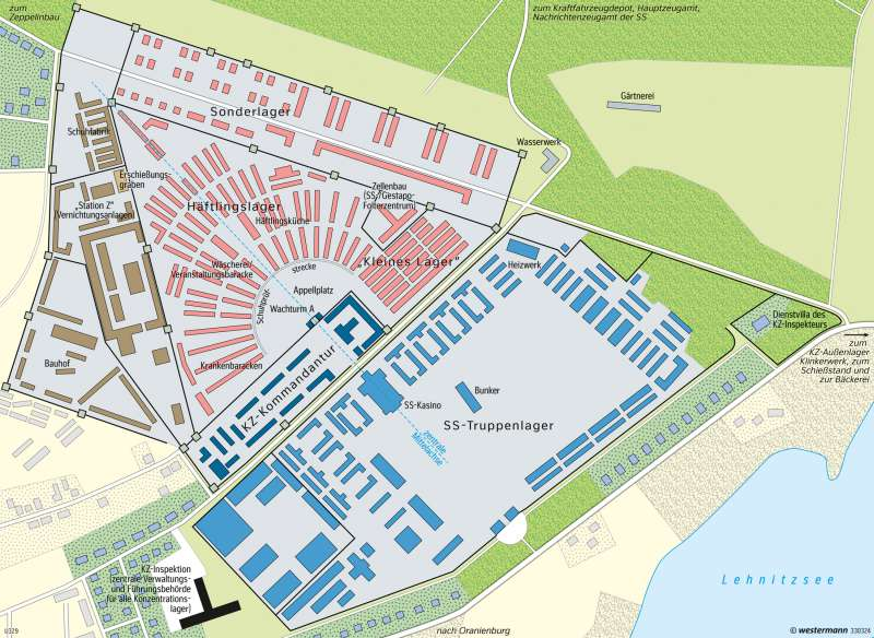 Sachsenhausen | Gedenkstätte | Deutschland - Zweiter Weltkrieg | Karte 69/3
