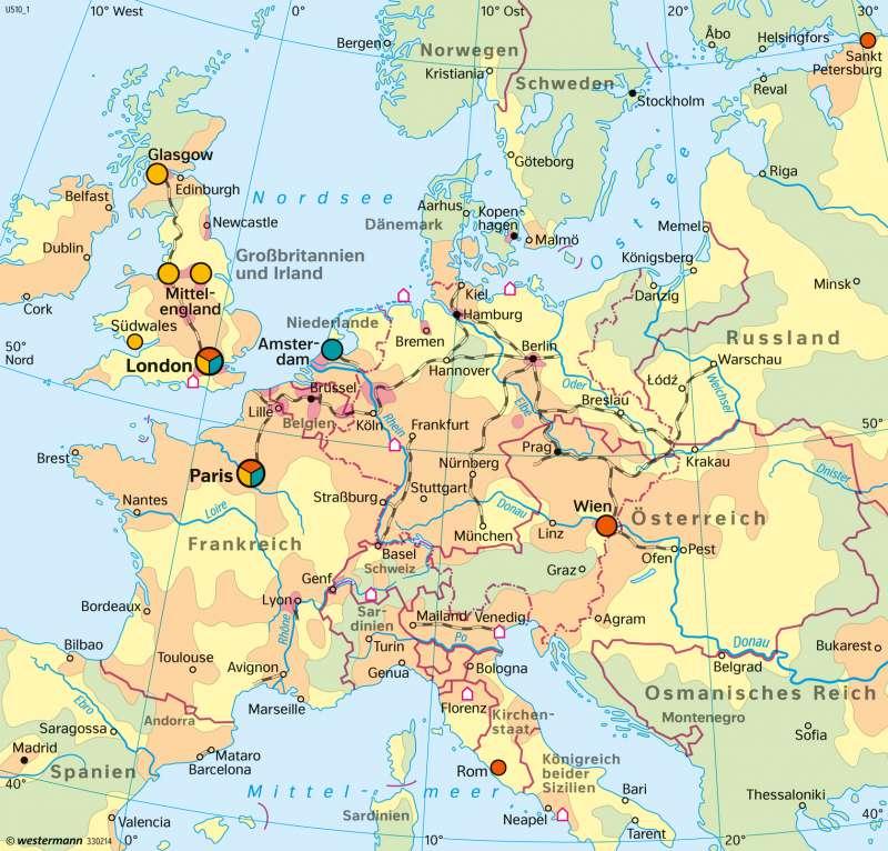 Diercke Weltatlas Kartenansicht Europa Fruhindustrielle