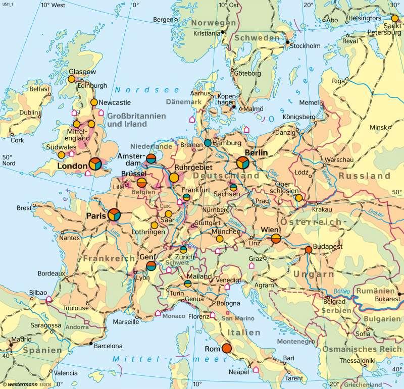 Frankfurt Karte Europa.Diercke Weltatlas Kartenansicht Europa Vernetzte