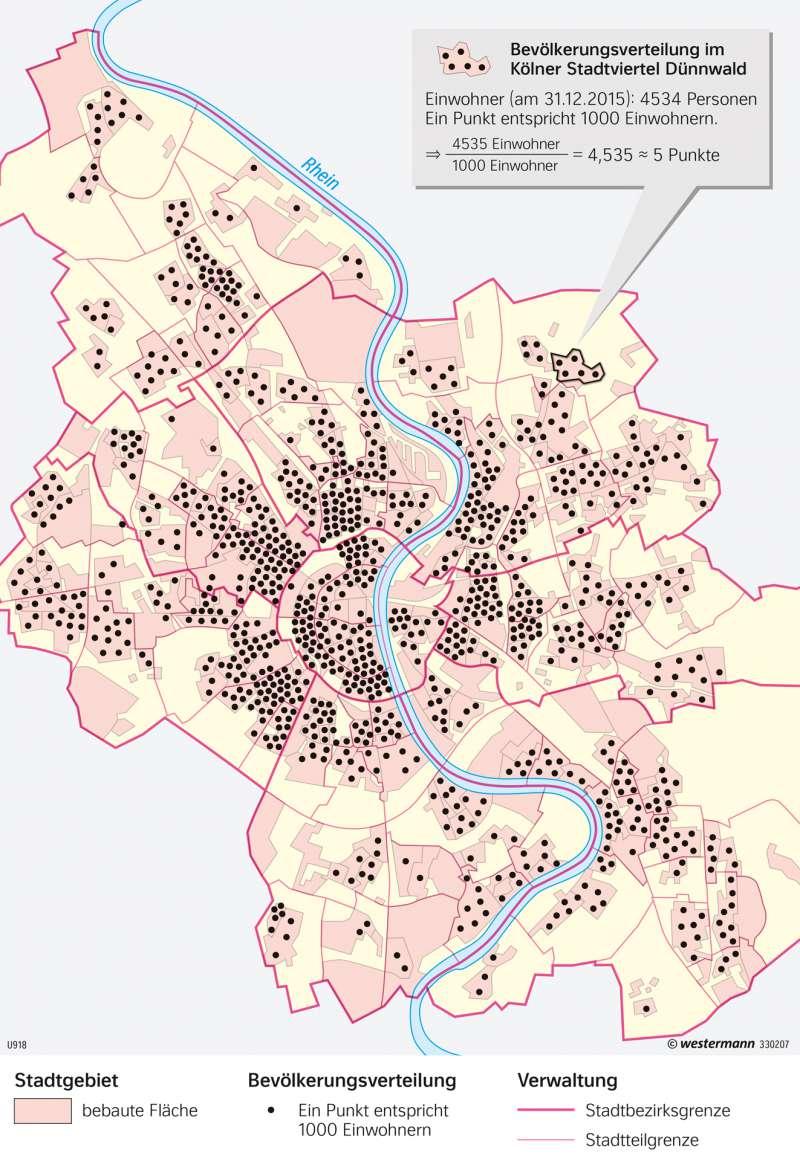 Köln | Bevölkerungsverteilung | Deutschland | Karte 75/5