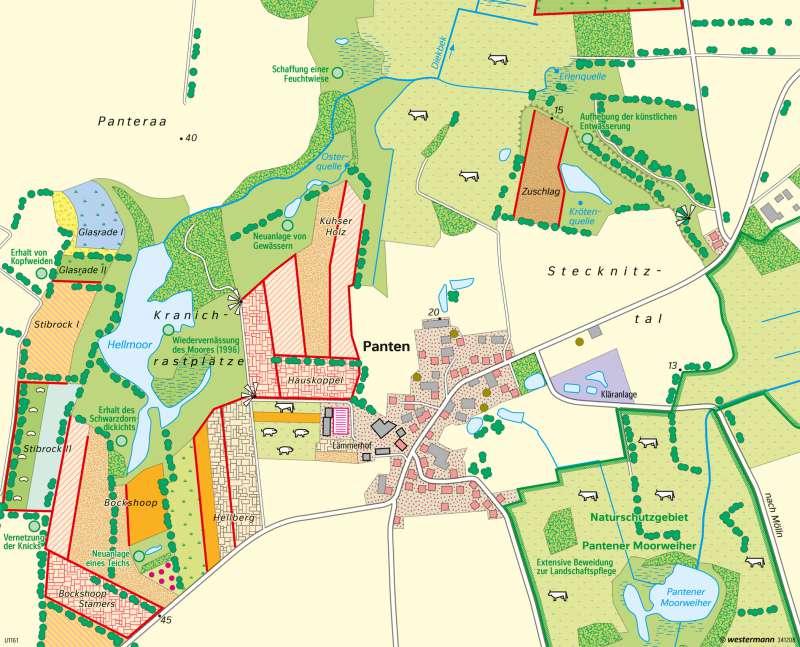 Panten (Schleswig-Holstein) | Ökologischer Landbau und Landschaftspflege | Deutschland - Nachhaltige Entwicklungspfade | Karte 83/5