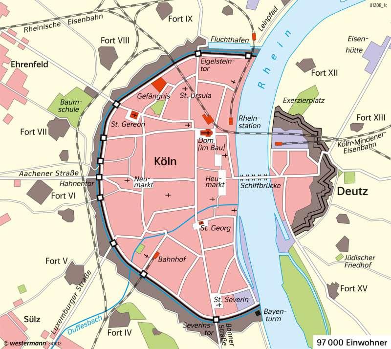 Köln Karte Deutschland.Diercke Weltatlas Kartenansicht Köln Stadtentwicklung 978 3